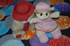Dos juguetes suaves Fotos de archivo libres de regalías