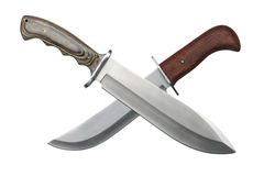 Dos knifes cruzados imagen de archivo