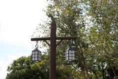 Dos lámparas en posts Fotografía de archivo