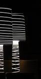 Dos lámparas modernas en una barra de la noche Imagen de archivo libre de regalías