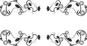 Dos lótus beira abstrata swirly ilustração stock