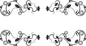 Dos lótus beira abstrata swirly Foto de Stock Royalty Free