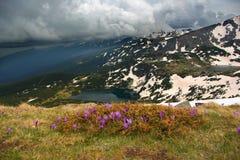 1 dos 7 lagos Rila Imagens de Stock