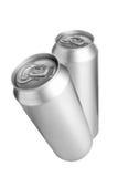 Dos latas de cerveza de aluminio imagen de archivo