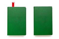 Dos libros verdes con las cubiertas vacías imagenes de archivo