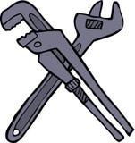 Dos llaves ajustables Foto de archivo libre de regalías