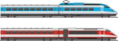 Dos locomotoras stock de ilustración