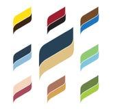 Dos logotipos ondulados de los colores Foto de archivo libre de regalías