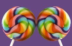 Dos Lollipops Foto de archivo libre de regalías