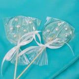 Dos lollypops transparentes Fotos de archivo