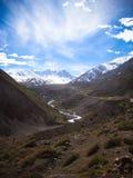 DOS los Andes Cordillera de los Andes de Cordilheira Fotos de archivo