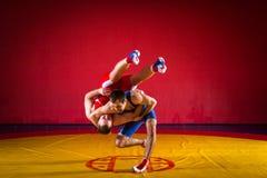 Dos luchadores de los hombres jovenes Foto de archivo libre de regalías