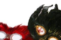 Dos máscaras Foto de archivo libre de regalías