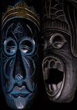 Dos máscaras africanas Imagen de archivo libre de regalías