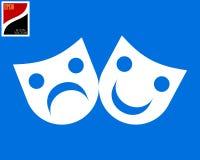 Dos máscaras de teatro stock de ilustración