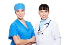 Dos médicos sonrientes Foto de archivo libre de regalías