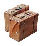 Dos maletas antiguas Imágenes de archivo libres de regalías