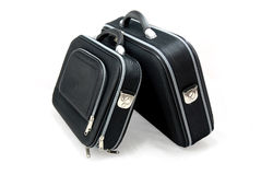 Dos maletas negras Foto de archivo