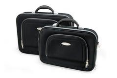 Dos maletas negras Foto de archivo libre de regalías