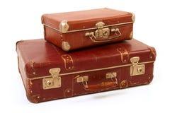 Dos maletas viejas Imágenes de archivo libres de regalías