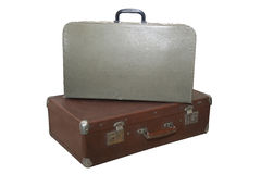 Dos maletas viejas Fotografía de archivo