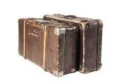 Dos maletas viejas Imagen de archivo libre de regalías