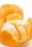 Dos mandarinas maduras Imágenes de archivo libres de regalías