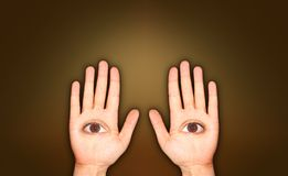 Dos manos Ilustración del Vector