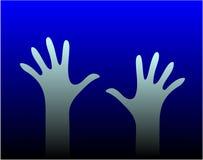 Dos manos Stock de ilustración