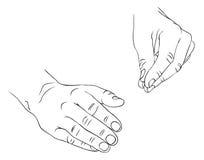 Dos manos Imagen de archivo