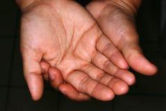 Dos manos imagen de archivo libre de regalías