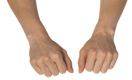 Dos manos femeninas Foto de archivo libre de regalías