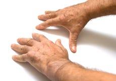 Dos manos masculinas Imagenes de archivo