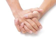 Dos manos plegables Fotografía de archivo libre de regalías