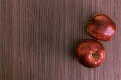 Dos manzanas Fotos de archivo