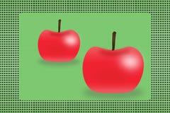 Dos manzanas en el fondo Fotografía de archivo libre de regalías