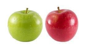 Dos manzanas frescas Foto de archivo libre de regalías