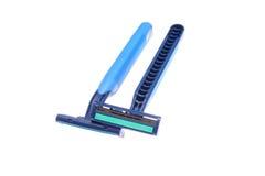 Dos maquinillas de afeitar Fotografía de archivo