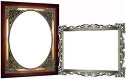 Dos marcos adornados Foto de archivo libre de regalías