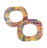 Dos marcos coloridos de la cartulina del grunge en blanco aislados en blanco Foto de archivo libre de regalías