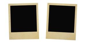 Dos marcos de la foto de la vendimia Foto de archivo libre de regalías