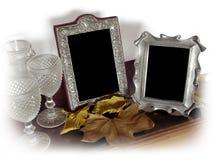 Dos marcos de la foto de la vendimia Imagen de archivo libre de regalías
