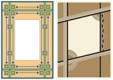 Dos marcos de la foto de la vendimia Imagen de archivo
