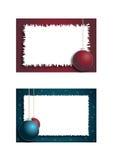 Dos marcos de la Navidad Imagen de archivo libre de regalías