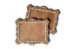 Dos marcos de madera Foto de archivo libre de regalías