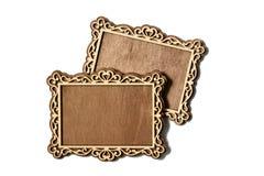 Dos marcos de madera Foto de archivo