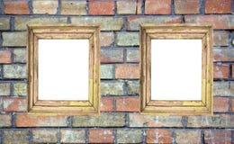 Dos marcos en blanco fotografía de archivo
