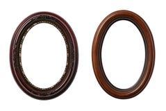 Dos marcos ovales Imágenes de archivo libres de regalías