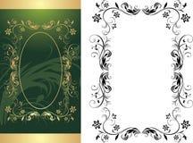 Dos marcos para el fondo decorativo Fotos de archivo libres de regalías