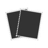 Dos marcos retros para la foto Imagenes de archivo